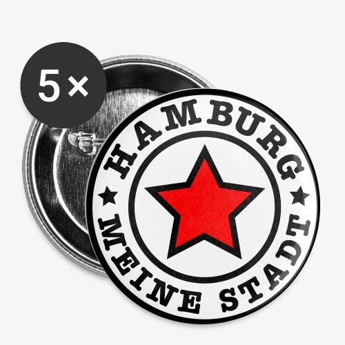 HAMBURG MEINE STADT Stern Star HH Anstecker / Button - Buttons groß 56 mm (5er Pack)