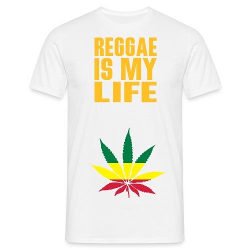 T-Shirt musique reggae homme blanc et couleur - T-shirt Homme