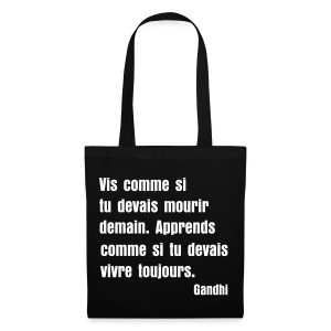 Sac de toile citation Gandhi - Tote Bag