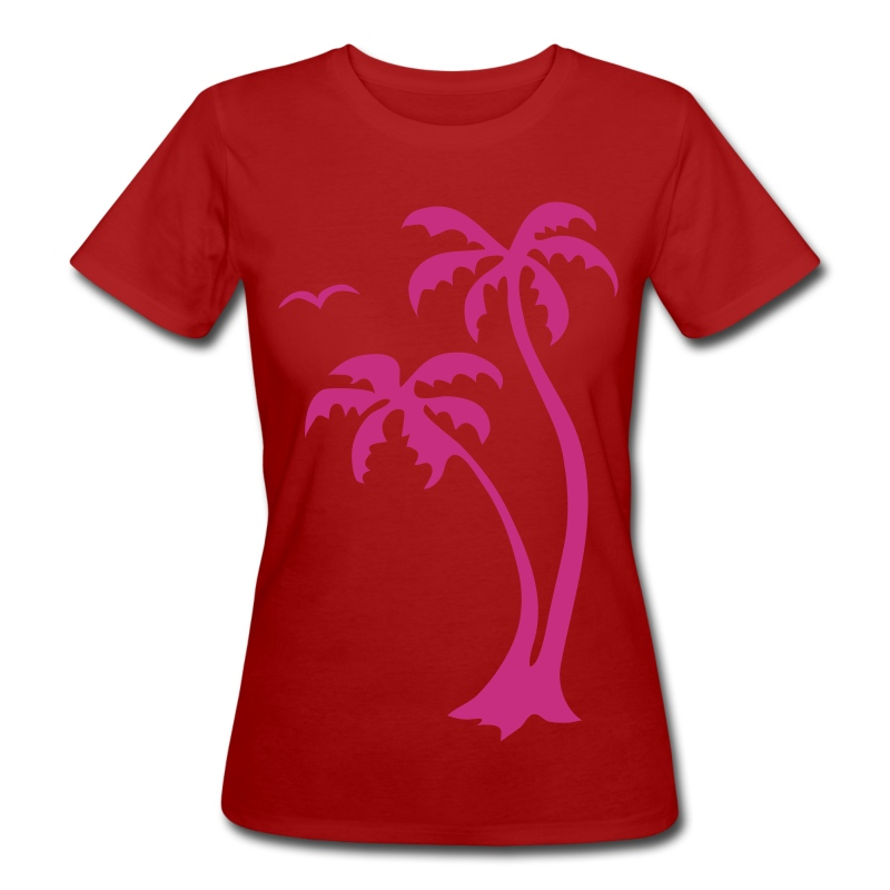 palmtrees - Frauen Bio-T-Shirt