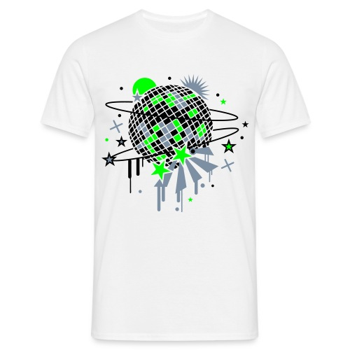 neon disco ball - Men's T-Shirt