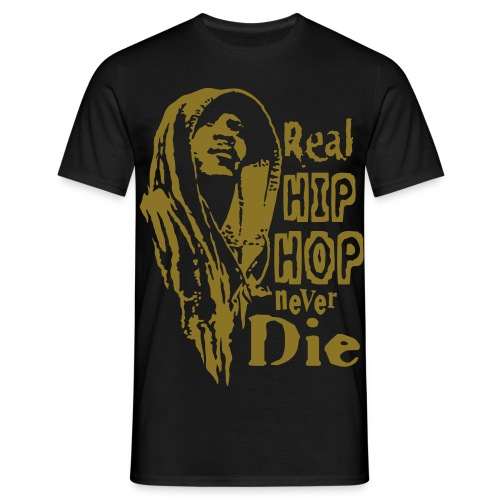 Real hip hop gold - Men's T-Shirt