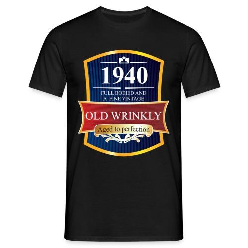 Old Wrinkly 1940 Birthday t-shirt - Men's T-Shirt