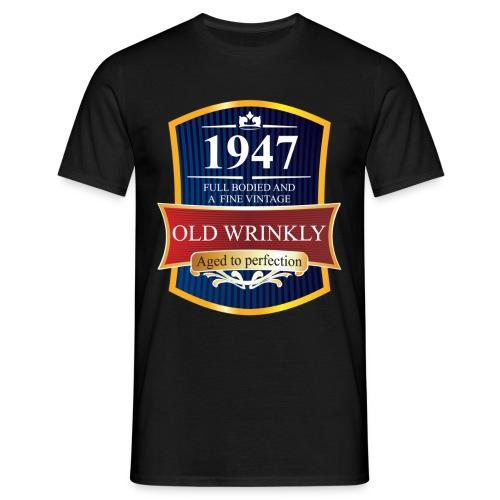 Old Wrinkly 1947 Birthday t-shirt - Men's T-Shirt