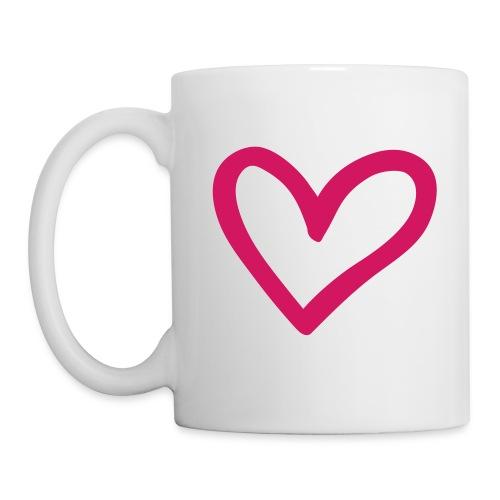 Big Pink Heart Mug - Mug