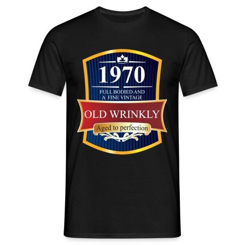Old Wrinkly 1970 Birthday t-shirt - Men's T-Shirt