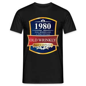 Old Wrinkly 1980 Birthday t-shirt - Men's T-Shirt