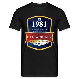 Old Wrinkly 1981 Birthday t-shirt - Men's T-Shirt