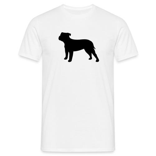 Herrenshirt mit American Bulldog  - Männer T-Shirt