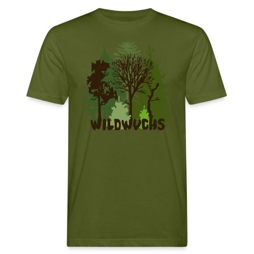 Bio Männer Shirt Wald Baum Bäume Wild Wildwuchs Tiershirt Shirt Tiermotiv - Männer Bio-T-Shirt