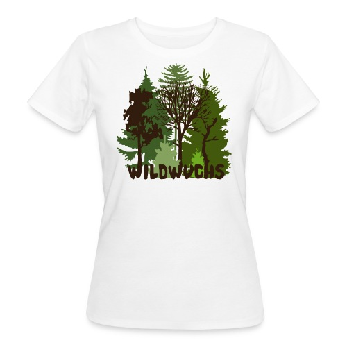Damen Bio Shirt Wald Baum Bäume Wild Wildwuchs Tiershirt Shirt Tiermotiv - Frauen Bio-T-Shirt