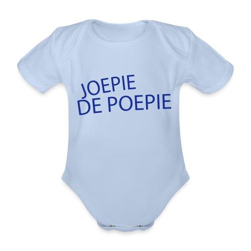 Joepie de Poepie - Baby bio-rompertje met korte mouwen