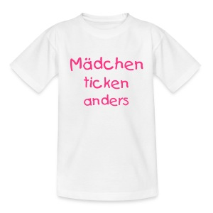 Mädchen ticken anders (Kids) - Teenager T-Shirt