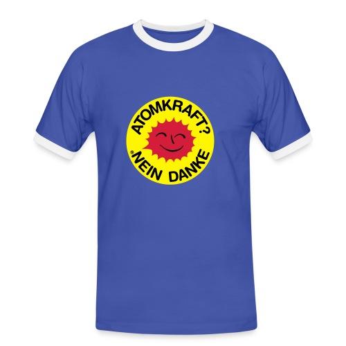 Männer Kontrast-T-Shirt - T-Shirt,Atomkraft