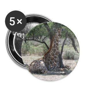 Button Giraffe in der Mittagspause - Buttons klein 25 mm