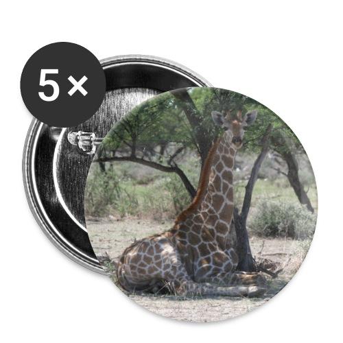 Button Giraffe in der Mittagspause - Buttons klein 25 mm