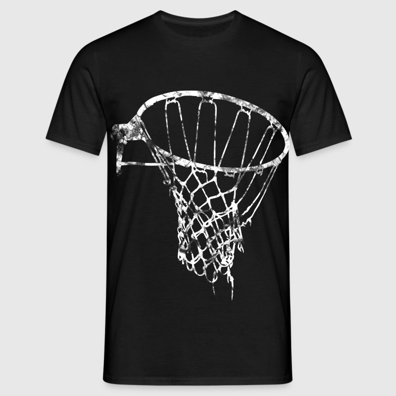 basketball korb netz vintage used look t shirt spreadshirt. Black Bedroom Furniture Sets. Home Design Ideas