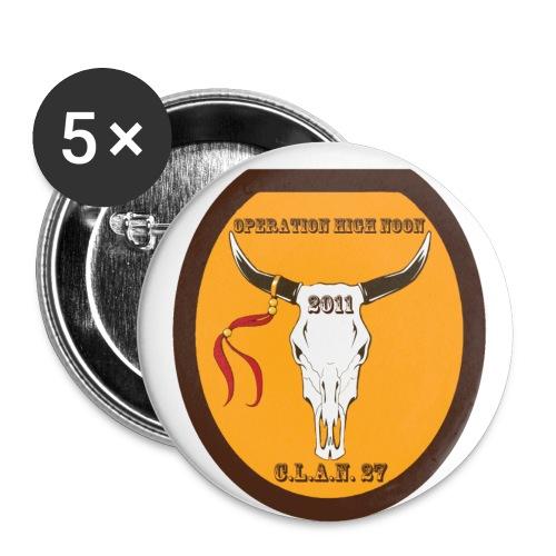 High Noon Button - Buttons klein 25 mm (5er Pack)