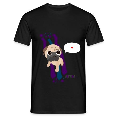 Heart me Mops (m) - Männer T-Shirt