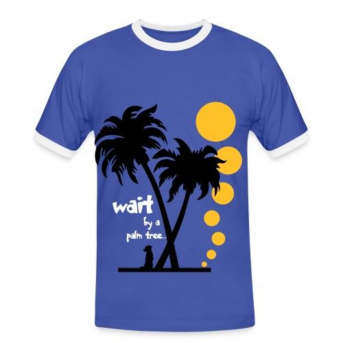 Wait by a Palmtree (m) - Männer Kontrast-T-Shirt
