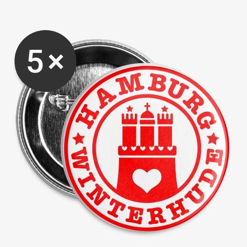 HAMBURG Winterhude - Hamburger Wappen Fan-Design HH Anstecker / Button Souvenir - Buttons groß 56 mm
