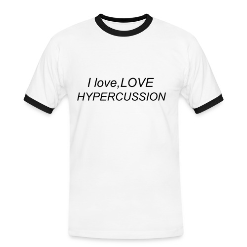 I love hypercussion - Mannen contrastshirt