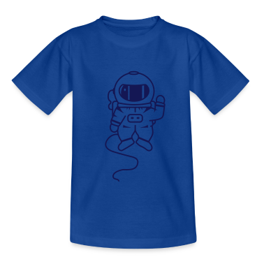 small astronaut in space Kids' Shirts