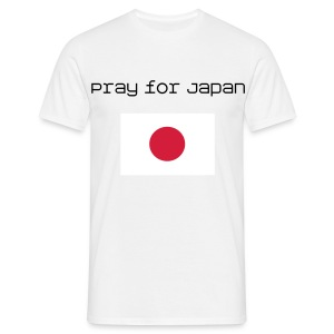Pray for Japan  - Männer T-Shirt