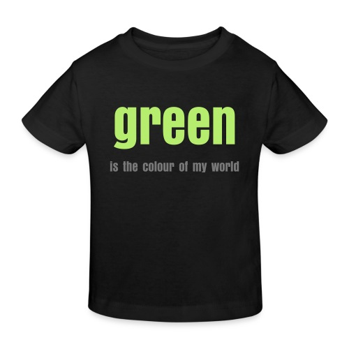 Kids Organicshirt black, GREEN is... - Kinder Bio-T-Shirt