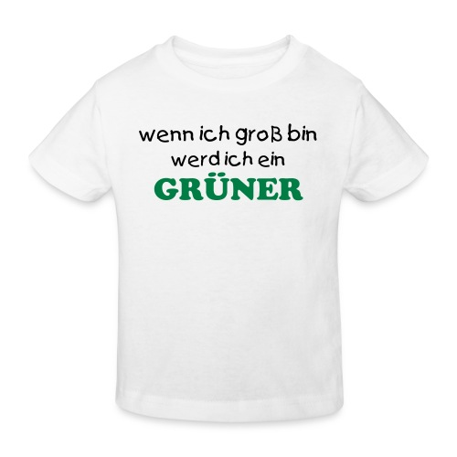 Boys go Greenshirt weiss - Kinder Bio-T-Shirt
