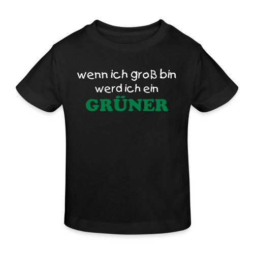 Boys go Greenshirt schwarz - Kinder Bio-T-Shirt