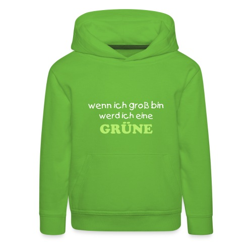 Girls go Greensweater grün - Kinder Premium Hoodie