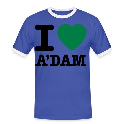 koszulka - Koszulka męska z kontrastowymi wstawkami
