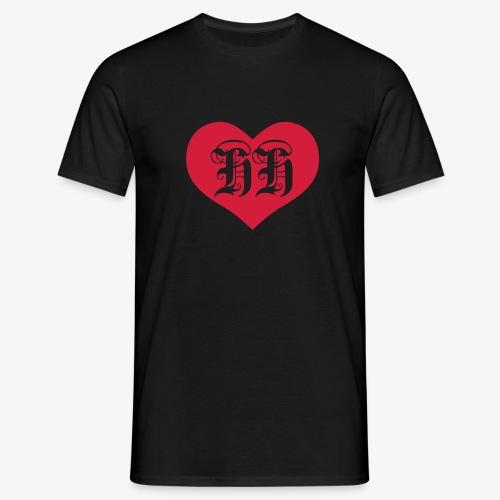 BEIDSEITIG!!! I LOVE HH Herz Heart / Hamburg 1c Männer T-Shirt schwarz - Männer T-Shirt