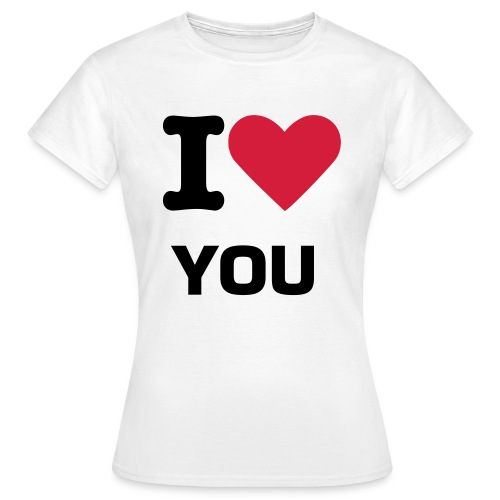 SHIRT I LOVE YOU - Maglietta da donna
