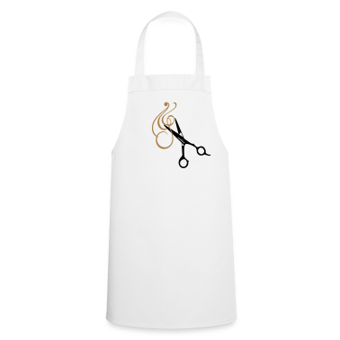 Frisör-Schere und Locke / haircut with professional scissors (2c)  Aprons