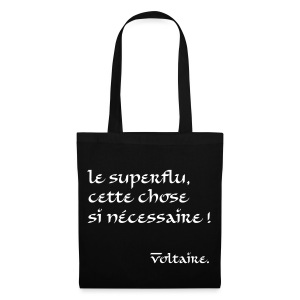 Sac de toile citation Voltaire - Tote Bag