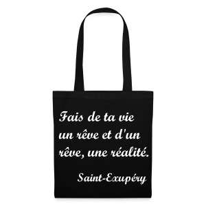 Sac de toile citation Saint-Exupéry - Tote Bag
