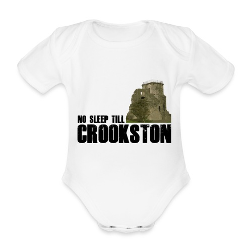 No Sleep Till Crookston - Organic Short-sleeved Baby Bodysuit