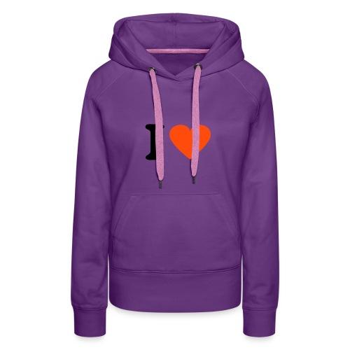 Lila I♥Hafen Chiller Kaputenpulover für Frauen - Frauen Premium Hoodie
