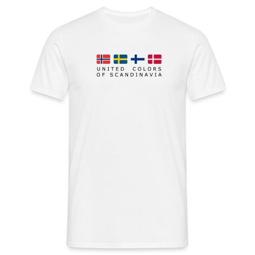 Classic T-Shirt UNITED COLORS OF SCANDINAVIA black-lettered - Men's T-Shirt