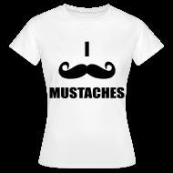 T-Shirts ~ Women's T-Shirt ~ MUSTACHES! Female