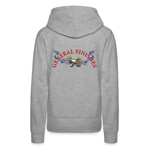 General Finishes Female Hoodie - back logo - Women's Premium Hoodie