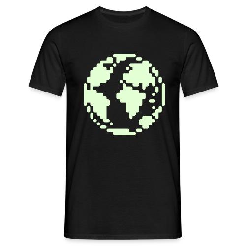 8 Bit World (Luminous) - Men's T-Shirt