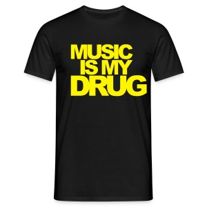 Yellow Music is my Drug - 19 Colours - Men's T-Shirt