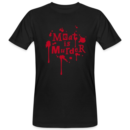 Mens BIO Shirt 'Meat is Murder' - Männer Bio-T-Shirt