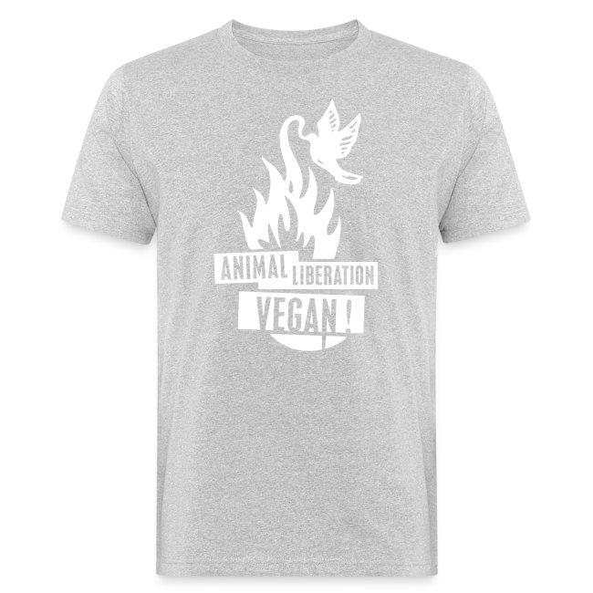 Mens BIO 'animal liberation vegan' B