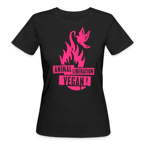 Womens BIO 'animal liberation vegan' PINK - Frauen Bio-T-Shirt