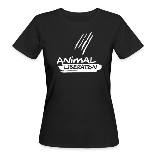 Womens BIO-Shirt 'Animal Liberation' - Frauen Bio-T-Shirt