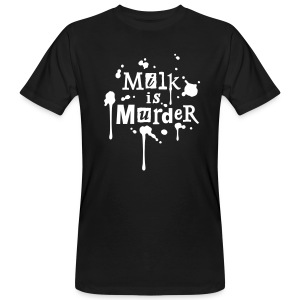 Mens BIO-Shirt 'MILK is Murder' BL - Männer Bio-T-Shirt